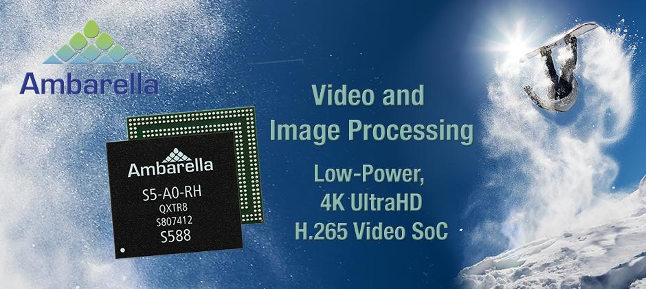 Video and Image Processing. Low-power, 4k UltraHD H.265 Video SoC